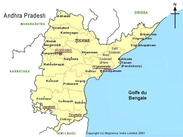 Map of Andhra Pradesh