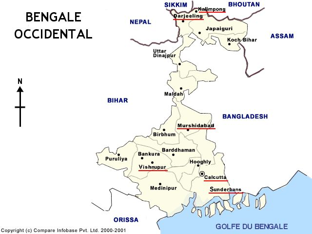 Map of West Bengale