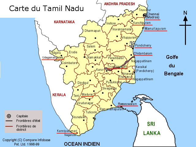 The indian province of tamil nadu map of tamil nadu gumiabroncs Image collections