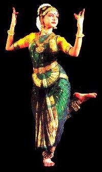 Dancer of bharata natyam