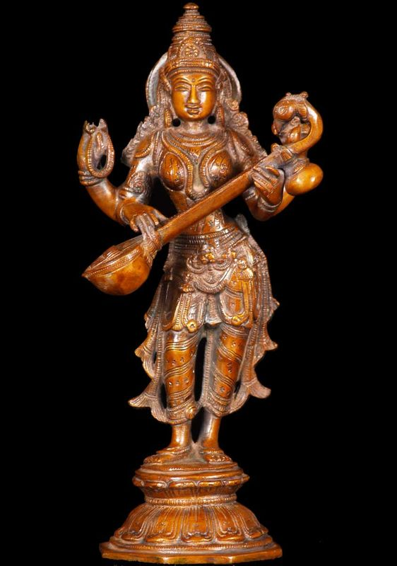 The god Saraswati