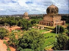 The tombs of the Qutub Shahi kings