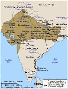 Map of the Gupta Empire