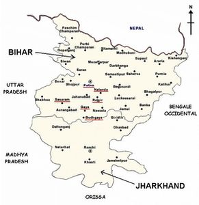 Map of Bihar and Jarkhand