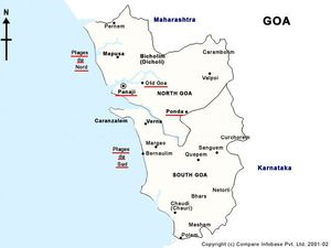 Map of the province of Goa