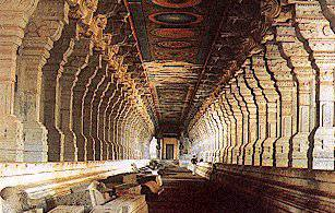 The temple of Ramanathaswamy