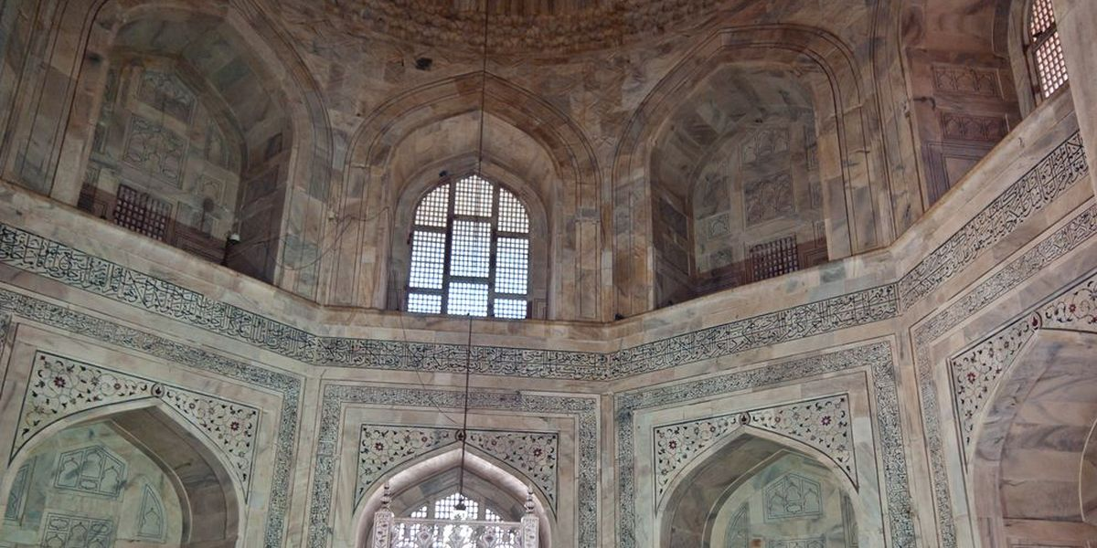 The interior of the mausoleum