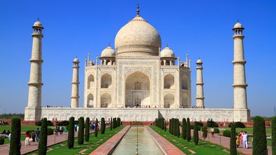 The mausoleum of the Taj Mahal