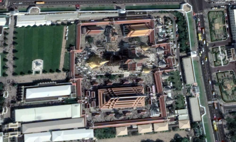 Aerial view of the temple