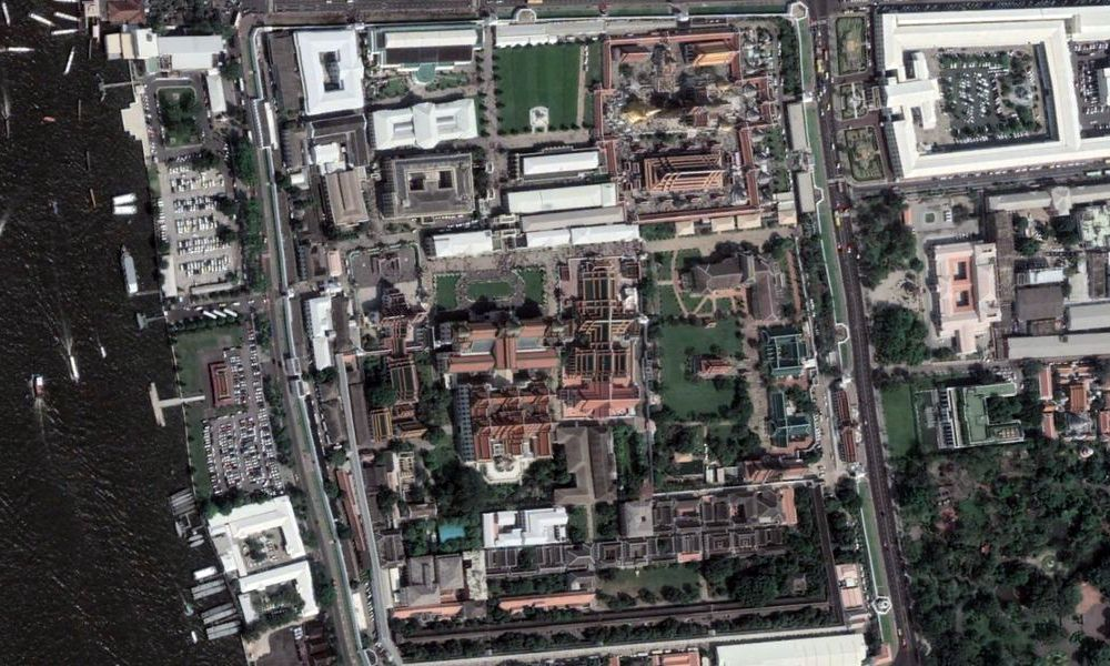 Aerial view of the Royal Palace