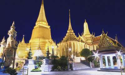 Temple of the Emerald Buddha at night