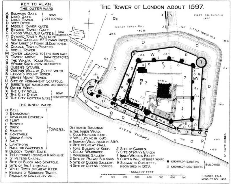 Plan of the 16th century