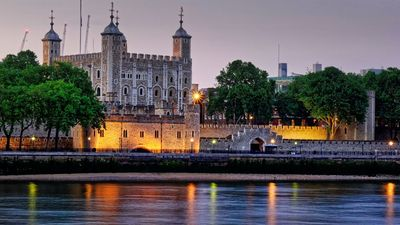 The Tower of London in the evening